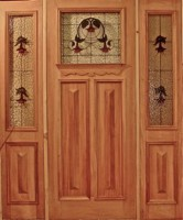 Wysteria Square Door Panel with Wysteria Sidelights